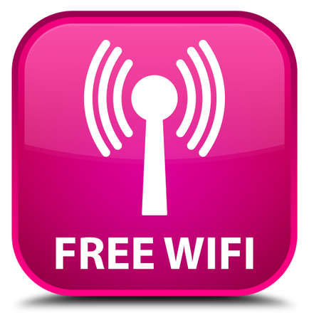 wlan: Free wifi (wlan network) pink square button