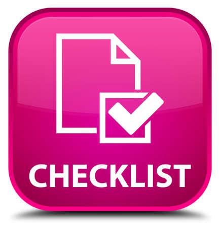 positive note: Checklist pink square button