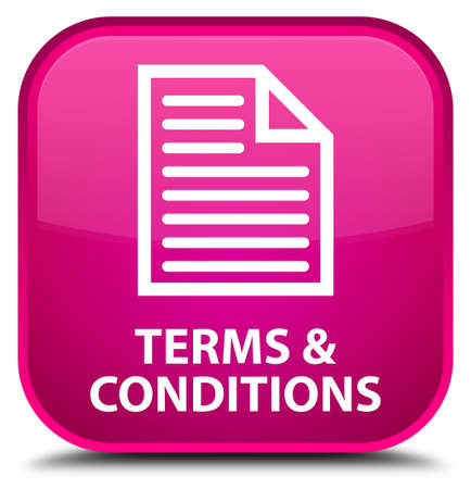 term and conditions: Terms and conditions (page icon) pink square button