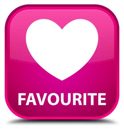 favourite: Favourite (heart icon) pink square button