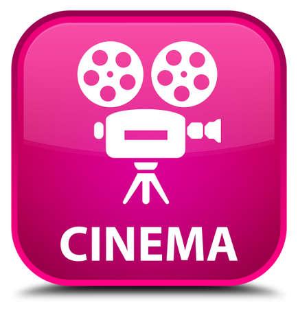 cinematographic: Cinema (video camera icon) pink square button