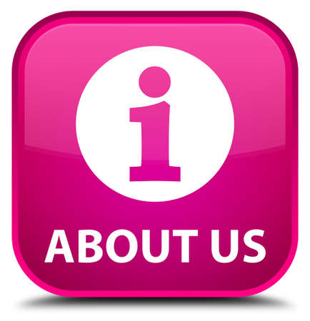 'about us': About us pink square button