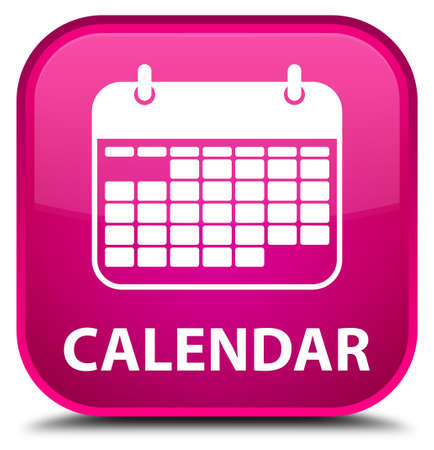 appointments: Calendar pink square button Stock Photo