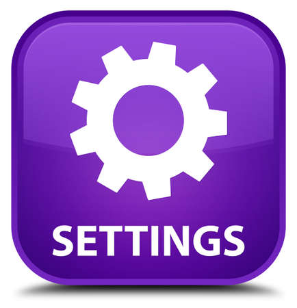 settings: Settings purple square button