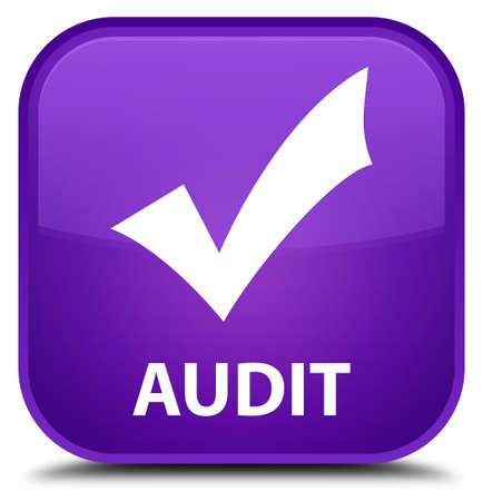 validate: Audit (validate icon) purple square button