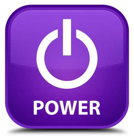 shutdown shut down: Power purple square button