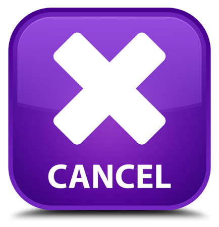 Cancel purple square button