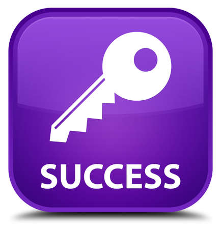 success key: Success (key icon) purple square button