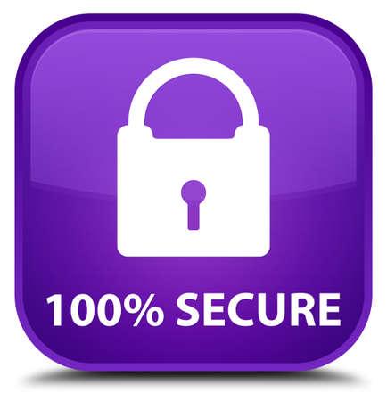secure: 100% secure purple square button