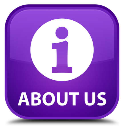 about us: About us purple square button