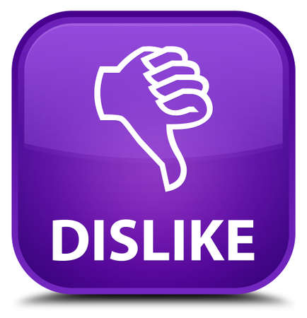 unsatisfied: Dislike purple square button