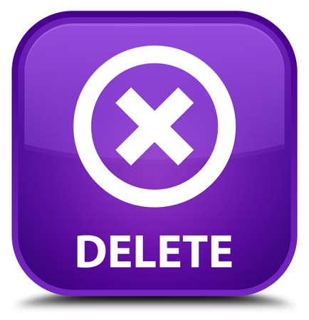 delete: Delete purple square button