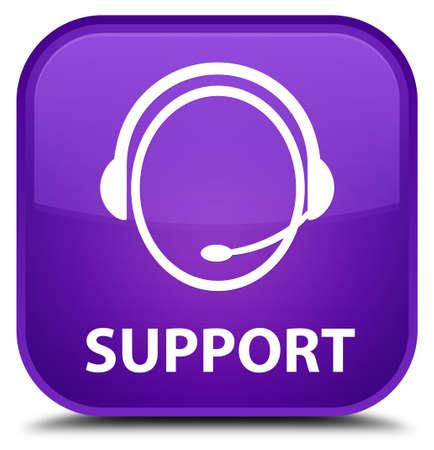 care: Support (customer care icon) purple square button