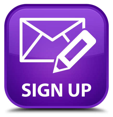 registry: Sign up (edit mail icon) purple square button