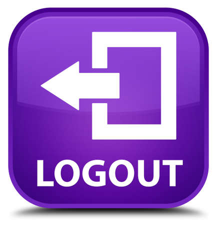 log off: Logout purple square button