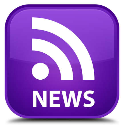 news current events: News (RSS icon) purple square button