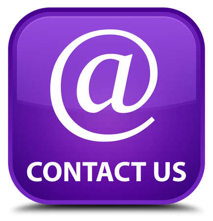 email address: Contact us (email address icon) purple square button