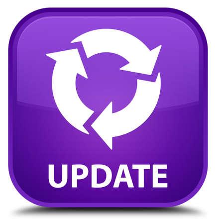 refresh icon: Update (refresh icon) purple square button