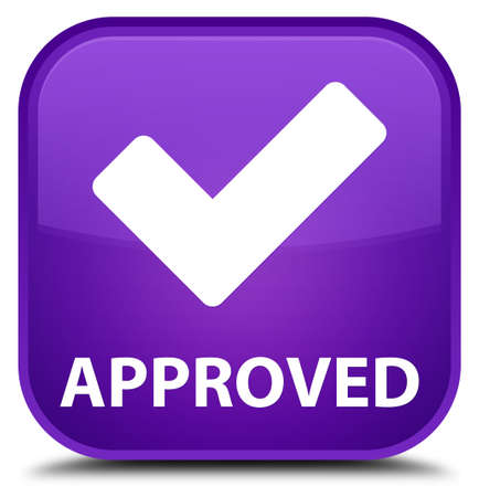 validate: Approved (validate icon) purple square button