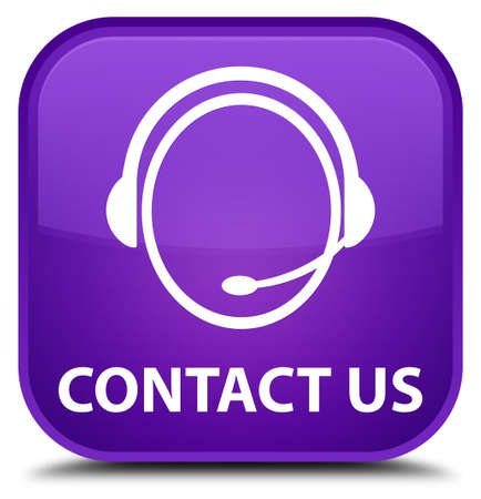 consultants: Contact us (customer care icon) purple square button