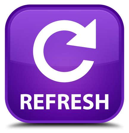 rotate: Refresh (rotate arrow icon) purple square button