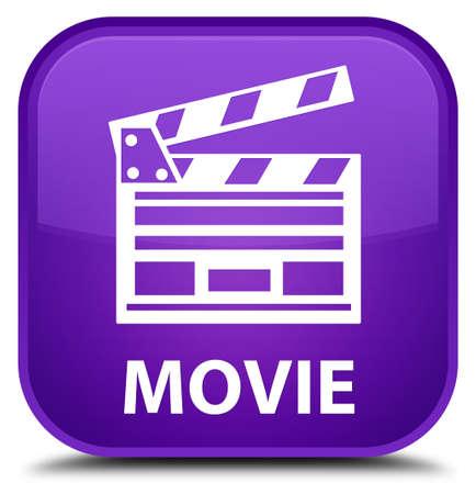 directors cut: Movie (cinema clip icon) purple square button