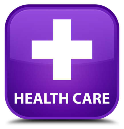 plus sign: Health care (plus sign) purple square button