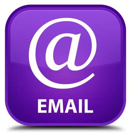 flysheet: Email (address icon) purple square button Stock Photo