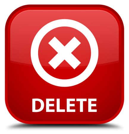 delete: Delete red square button