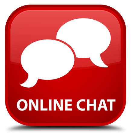 online: Online chat red square button