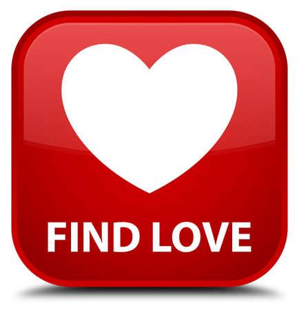 valentin's: Find love red square button