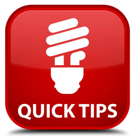 hints: Quick tips (bulb icon) red square button