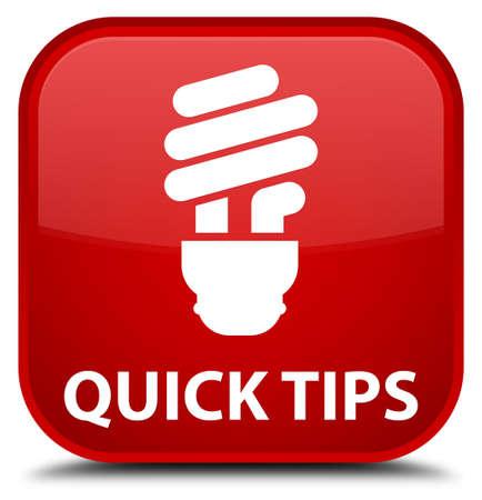 incandescence: Quick tips (bulb icon) red square button