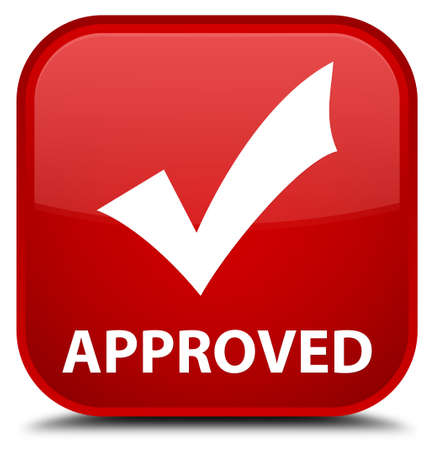 validate: Approved (validate icon) red square button