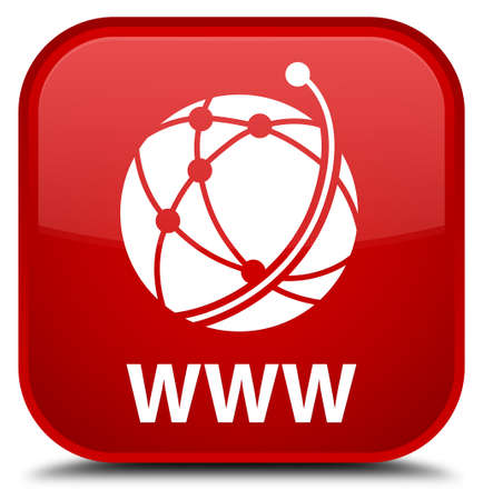 WWW (global network icon) red square button