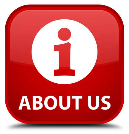 about us: About us red square button
