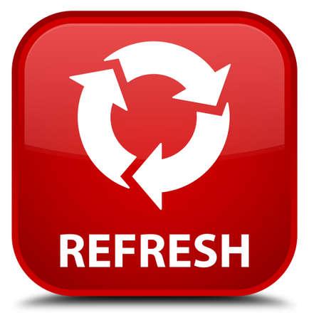 refrescar: Actualiza botón rojo cuadrado
