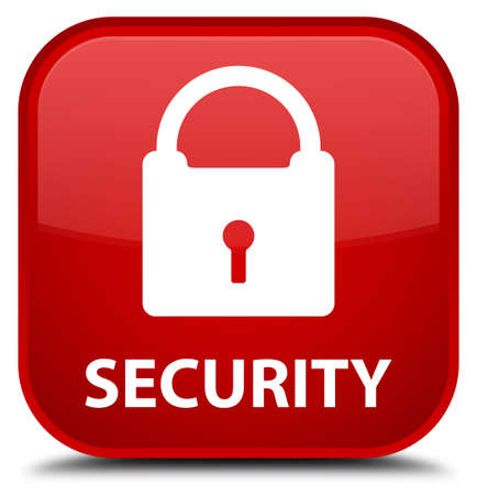 key hole shape: Security (padlock icon) red square button