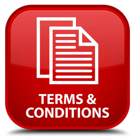 term and conditions: Terms and conditions (pages icon) red square button