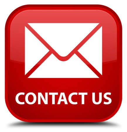 email contact: Contact us (email icon) red square button