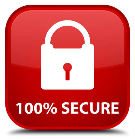 secure: 100% secure red square button