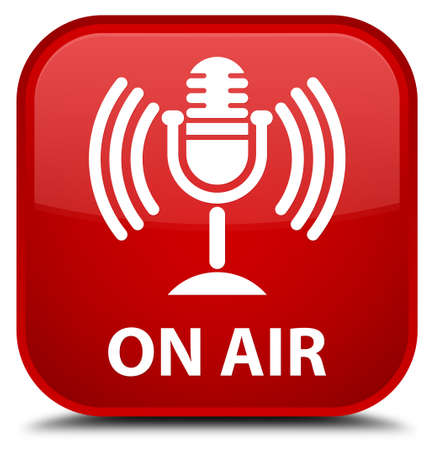 talk show: On air (mic icon) red square button