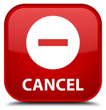 Cancel red square button