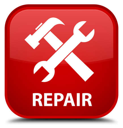preference: Repair (tools icon) red square button Stock Photo