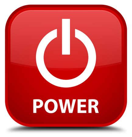 shutdown shut down: Power red square button