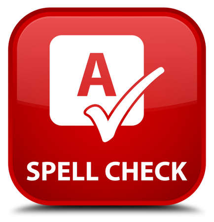 word processors: Spell check red square button