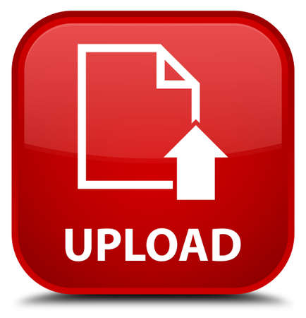 uploading: Upload (document icon) red square button