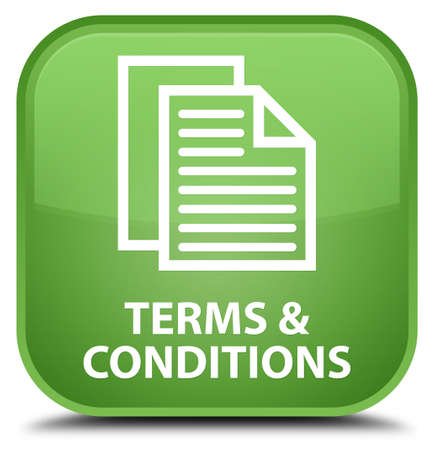 terms: Terms and conditions (pages icon) soft green square button