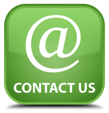 email contact: Contact us (email address icon) soft green square button