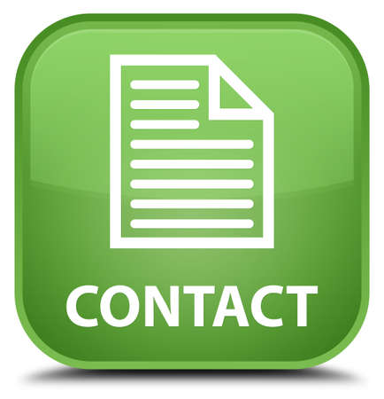 contact page: Contact (page icon) soft green square button